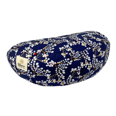 demi-lune-coussin-de-meditation-bleu-nuit-blanc-petale-de-cerisiers-fabrication-francaise